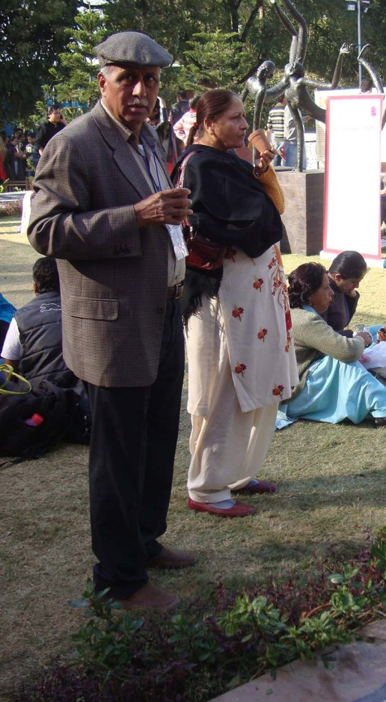 A visitor at the festival
